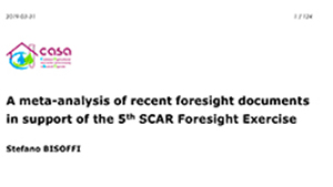 5th SCAR Foresight Exercise  -  Foresight Group Documents